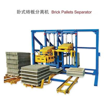 Horizontal block pallet separator machine
